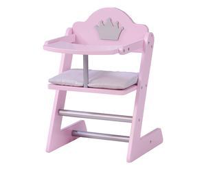 Seggiolone per bambole in legno Sweet Girl rosa, 28x42x32 cm