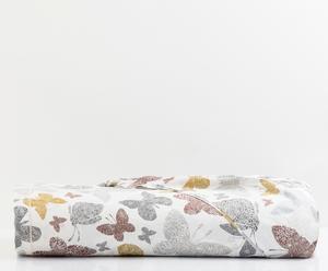 Telo arredo in cotone Farfalle beige - 250x290 cm