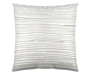 Federa arredo in cotone Lines bianco - 60x60 cm