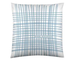 Federa arredo in cotone Malla bianco/azzurro - 60x60 cm