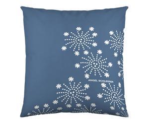 Federa arredo in cotone Snow blu - 60x60 cm