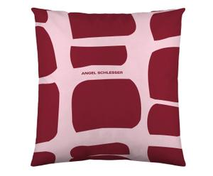 Federa arredo in cotone Wall rosa/bordeaux - 60x60 cm
