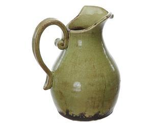 Brocca con manico in ceramica verde - 23x28x19 cm