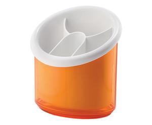 Scolaposate con 4 scomparti Latina arancione - 16x17x13 cm
