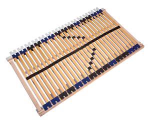 Rete mobile a doghe in legno massello Link Supra, 196x7x119 cm