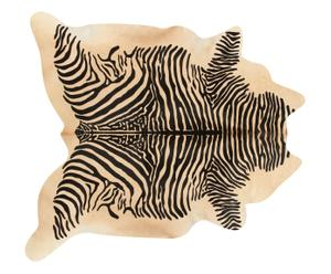 Tappeto in pelle di mucca Zebra, 240x170 cm