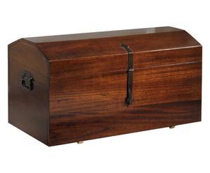 Baule in legno di paulonia Secret noce - 98x47x46 cm