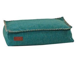Cuscino per cani Cobana mini in fibra di olefina petrolio - 59x40x15