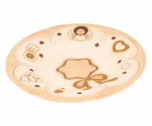 Centrotavola natalizio in ceramica - d 40 cm