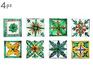 Set di 4 sottopentola in ceramica e sughero Tradition