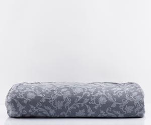 Copridivano 2 posti in cotone Zapping Bisanzio grigio - l 170 cm