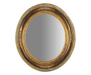 Specchio da parete ovale in legno Virgus - 75x80x7 cm