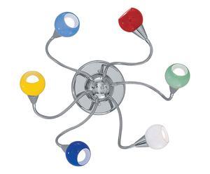 Applique a 6 luci in cromo e pasta di vetro - 80x9 cm