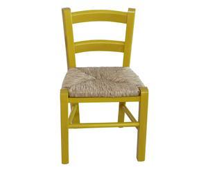 Sedia per bambini in legno Luca gialla - 30x50x29 cm