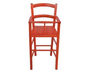 Seggiolone bimbo in legno Nan rosso - 46x101x46 cm