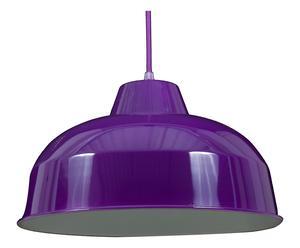 Lampadario in metallo Disco viola - 37x120x37 cm