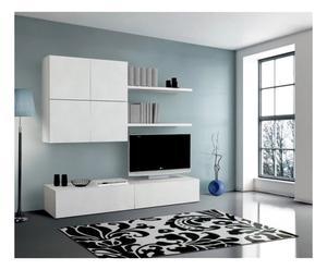 Composizione soggiorno in legno Denny - 4 pezzi
