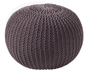 Pouf in cotone Like marrone - d 35 cm
