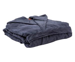 Accappatoio con cappuccio in cotone nat blu - Tg.unica