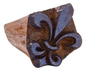Timbrino in legno fatto a mano florence - 2x2 cm