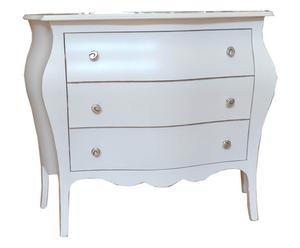 Como' in legno massiccio SANDRA bianco - 100x85x42 cm