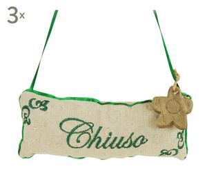 Set di 3 cuscinetti per porta in cotone Chiuso - 18x2x8 cm