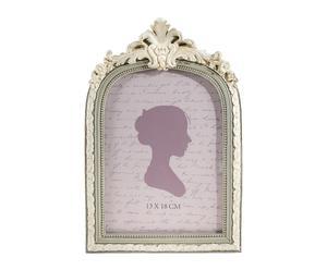 Cornice portafoto in resina con decoro neobarocco Impero - 15x23x2 cm
