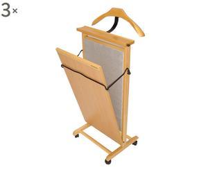 Stirapantaloni in faggio con rotelline Press - 43X102X35 cm