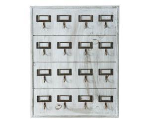Bacheca appendichiavi in legno - 35x47x3 cm