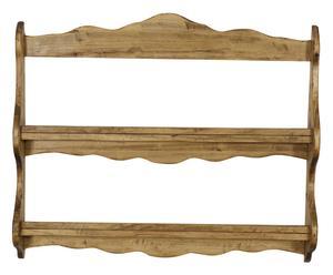 Piattaia in legno massello di tiglio naturale - 68x84x12 cm