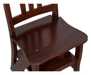 Sedia scala in legno color noce - 44x90x38 cm