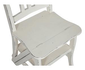 Sedia scala in legno bianco - 44x90x38 cm
