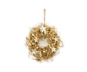 Ghirlanda in rattan e legno Magic Gold