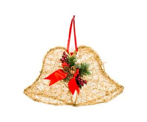 Decorazione in rattan dorato Jingle Bells