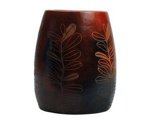 Vaso decorativo in legno Ginseng - A 27 cm