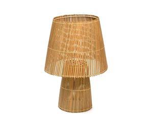 Lampada da tavolo in listarelle di bambu' - A 60 cm