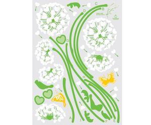 Sticker decorativo Heart Dandelion Flowers - 100x140 cm