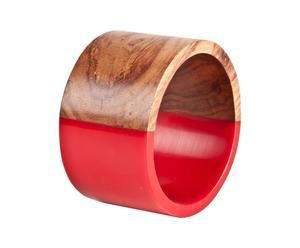 Bracciale in bakelite bicolore marrone e rosso