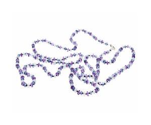 Collana in rainbow, ametista e iolite con lavorazione a rosario - viola e azzurra