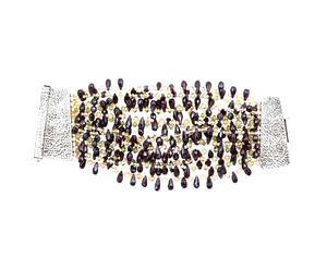 Bracciale in granato, peridoto e citrino con chiusure in argento