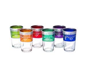 Set di bicchieri multicolore Marocco