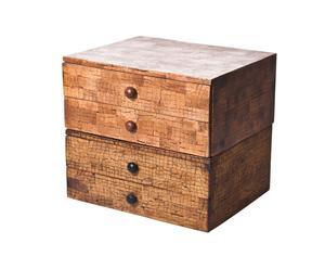 Mini cassettiera in legno con 4 cassetti Chirashi- 33x24x24 cm