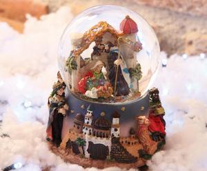 Carillon waterball poliresina e vetro Sacra Famiglia