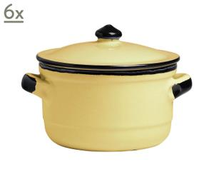 Set di 6 cocotte in terracotta Pastel - Giallo