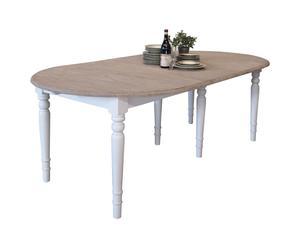 Tavolo ovale in olmo e pioppo Marseille - 120X120X78 cm