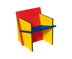 Sedia montabile ad incastro in MDF BAUCHAIR BABY - 40x40x42 cm
