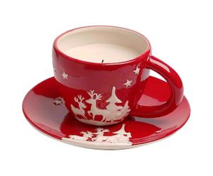Tazza in ceramica con candela profumata Merry Christmas
