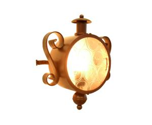 Applique in ferro e vetro Oblo' - 26x33x13 cm