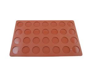 Foglio in silicone per 28 macarons