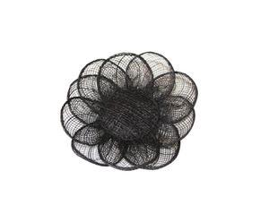 Centrotavola in rete di abaca Flower marrone - Ø10 cm